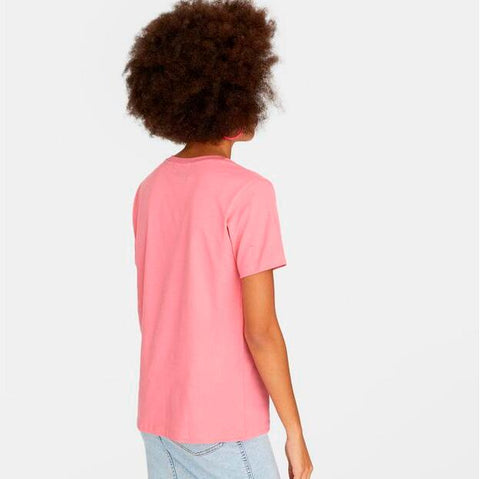 Pink Short Sleeve Print Fitted Tee gallery 4