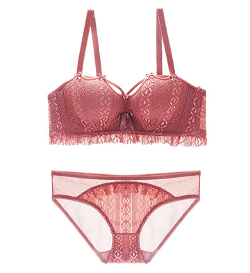Sexy Lace Push-up Top & Panty Lingerie Set