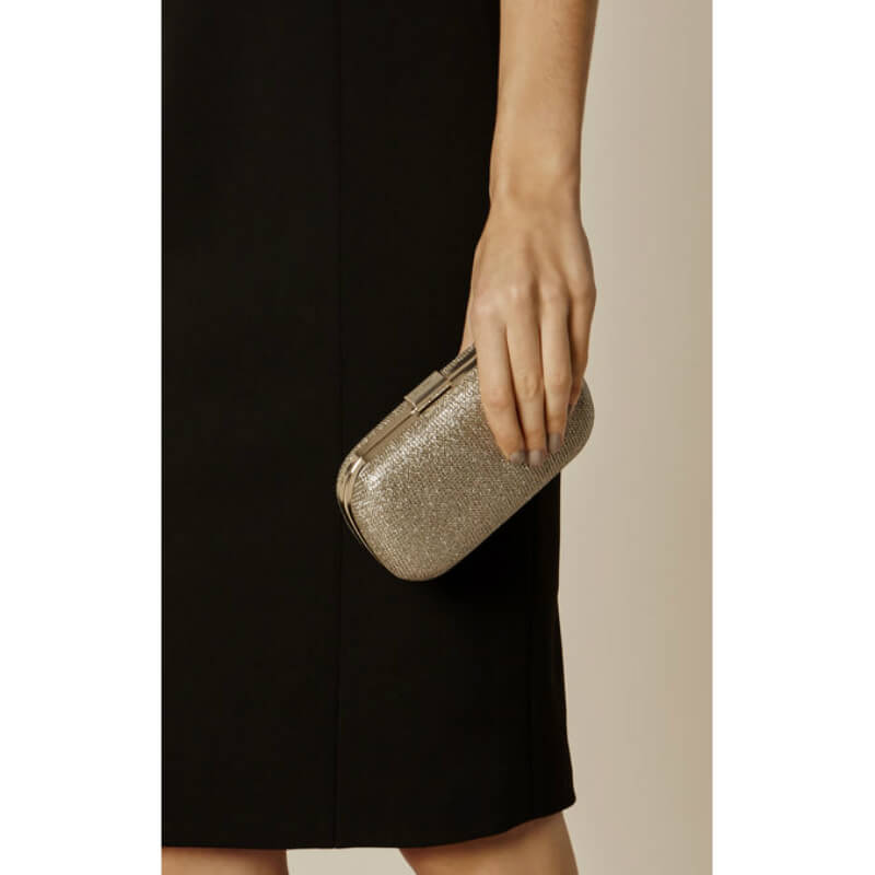 Gold Texture Glitter Basic Clutch