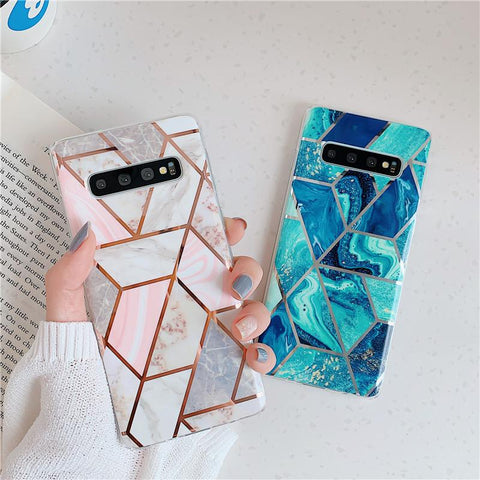 Geometry Marble Patch Phone Case for Samsung gallery 7