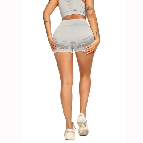 Contrast Hollow Out Seamless Sports Shorts gallery 10