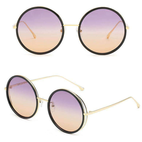 Circle Shape Lens with Wire Side Sunglasses gallery 4