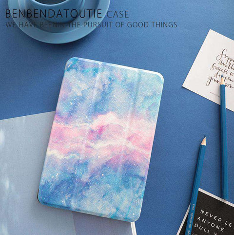 Literary Romantic Starry Sky Painted Apple iPad Cover Case gallery 3