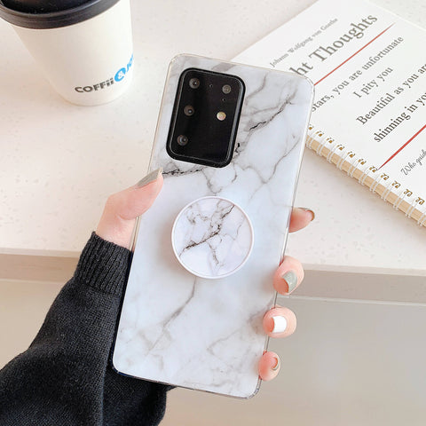 Smooth Marble Crack Detail Phone Case with Phone Holder gallery 10
