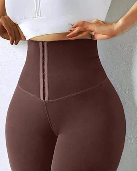 Body Shaping Waist Cincher Sports Leggings gallery 32