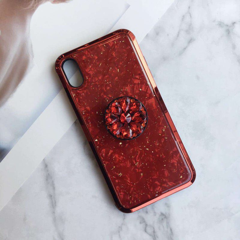 Luxury Shell Pattern Phone Case for Apple iPhone with Phone Holder