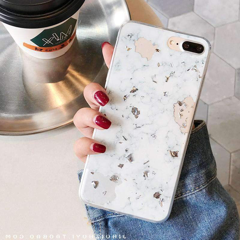 Chic Marble Soft Phone Case for Apple iPhone