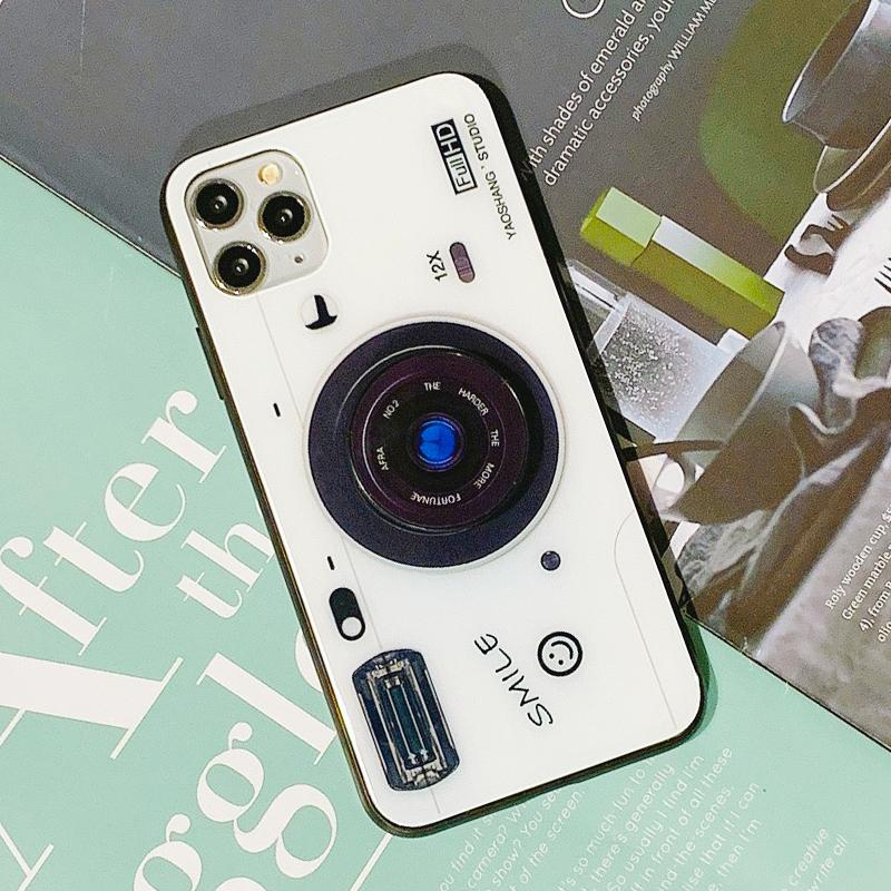 Chic Camera Design iPhone Case with Phone Holder and Hand Strap