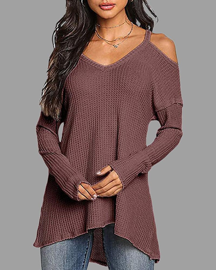 Solid Ribbed Cut Out Cami Sweater gallery 3