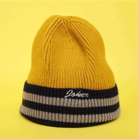 Embroidery Letter Striped Beanie Hat gallery 6
