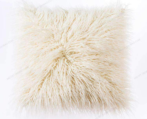 Fluffy Plush Pillow Cover gallery 2