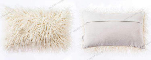 Fluffy Plush Pillow Cover gallery 3