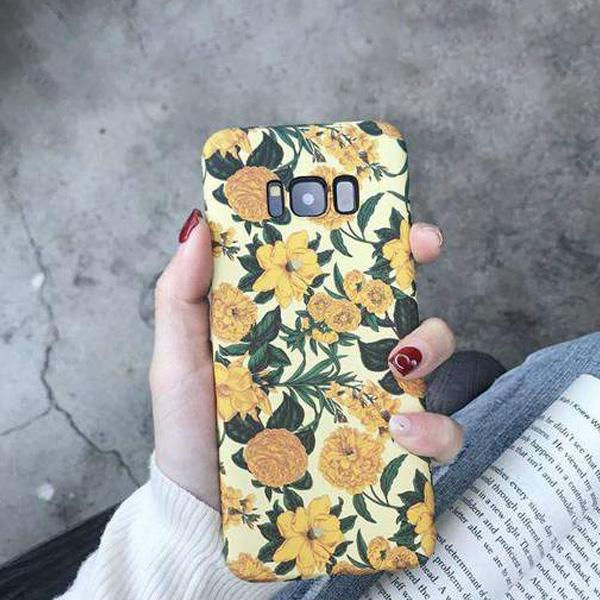 Chic Emboss Floral Print Phone Case for Samsung