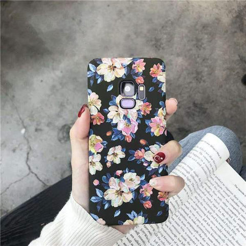 Chic Emboss Floral Print Phone Case for Samsung gallery 3