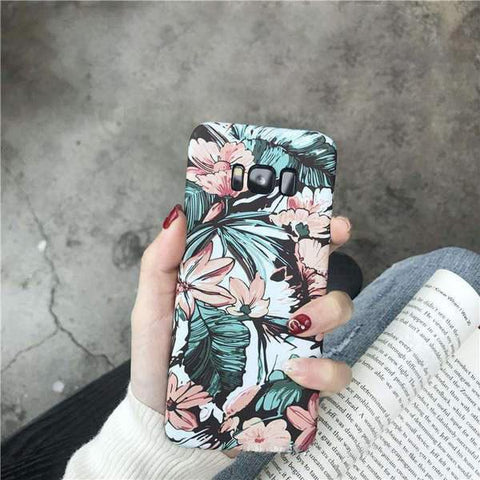 Chic Emboss Floral Print Phone Case for Samsung gallery 4