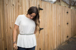Little White Peplum