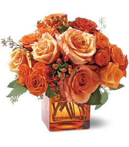 Orange Rose Mosaic