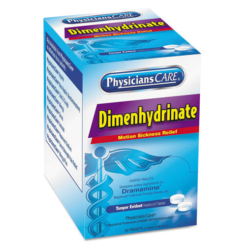 PhysiciansCare® Dimenhydrinate (Motion Sickness) Tablets