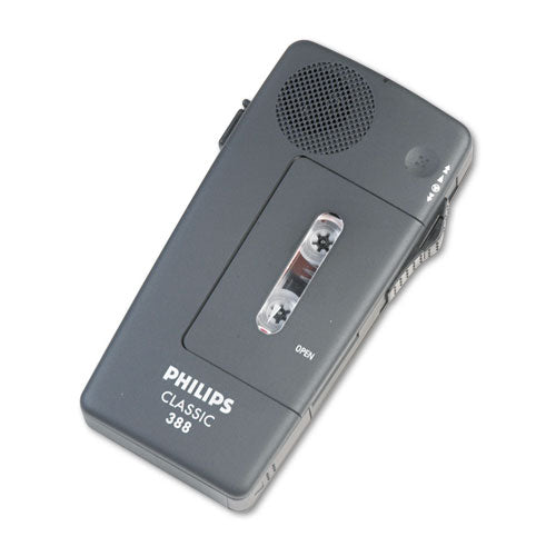 Philips® Pocket Memo 388 Slide Switch Mini Cassette Dictation Recorder