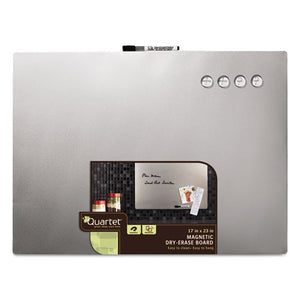 Quartet® Magnetic Dry Erase Board with Stainless Steel Finish