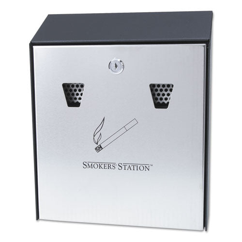 Rubbermaid® Commercial Smokers' Station® Wall Mounted Smoking Receptacle