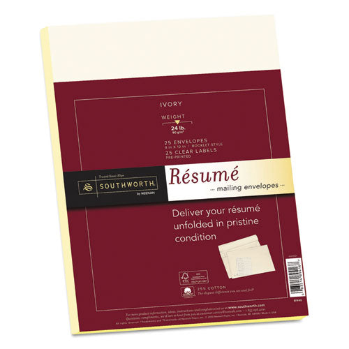 Southworth® Resume Presentation Envelopes