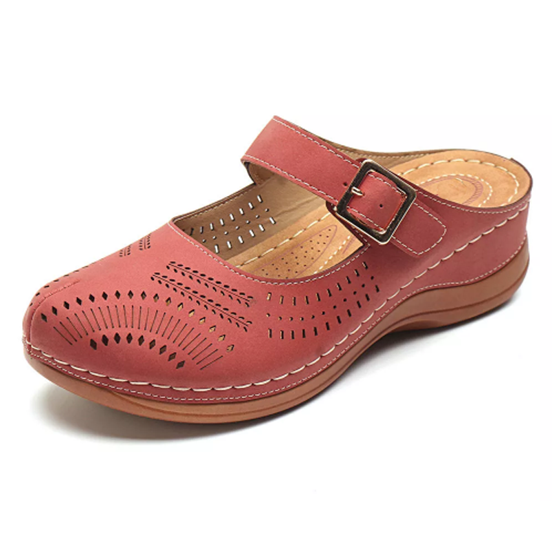 Hallow Out Breathable Slip-On Wedge Sandal