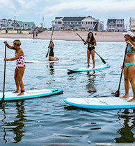 Mermaid Mama's on Paddleboard