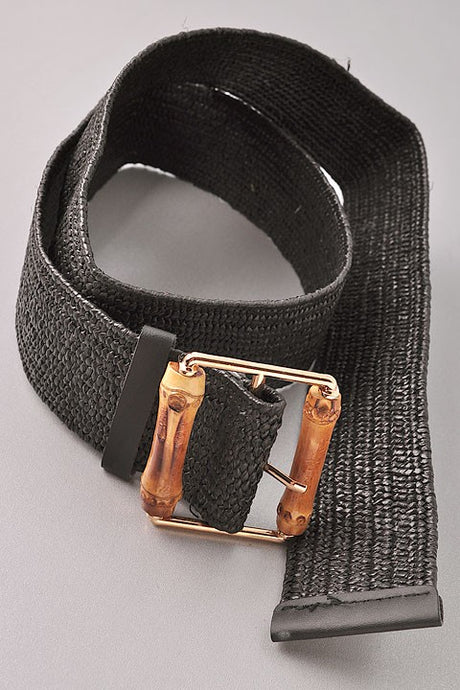 Stretchy Bamboo Belt Black OS