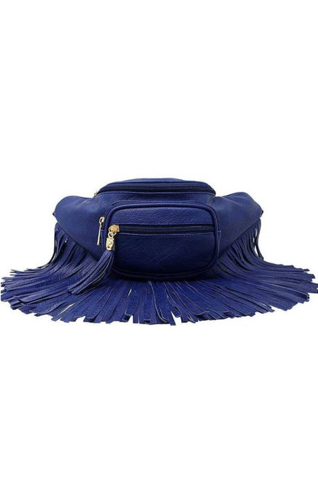 Leighs Fringe Funny Royal Blue