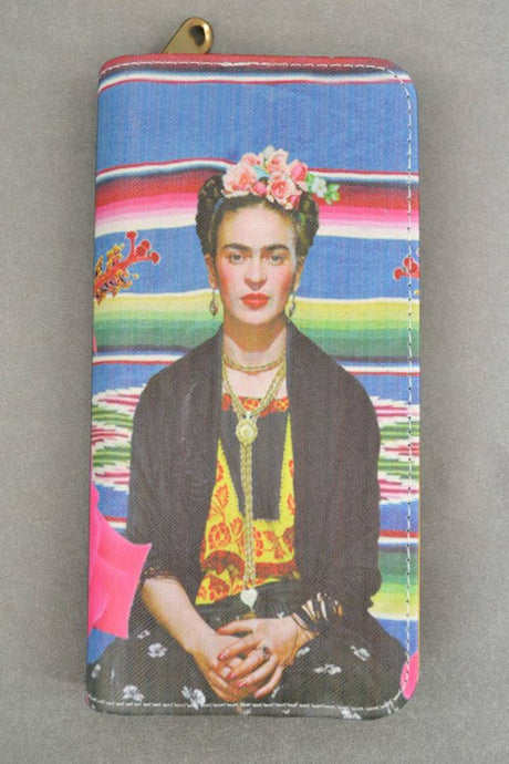 Frida In Denim Wallet