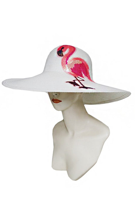 Toyo Flamingo Hat White