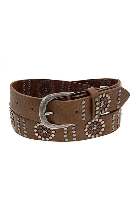 Stud Muffin Belt Brown