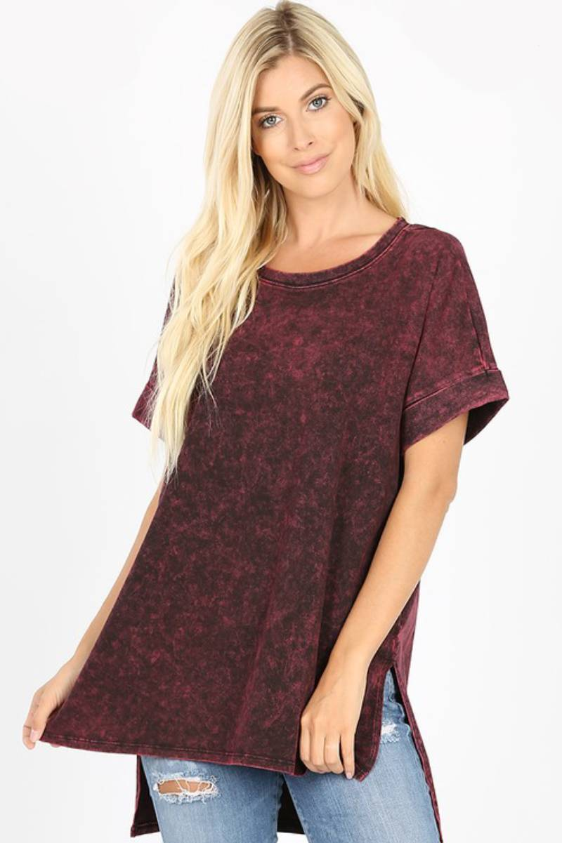 Mindful Tee Burgundy