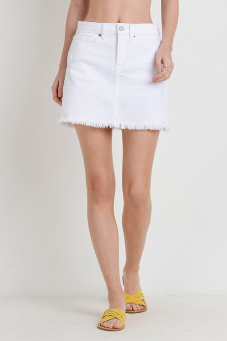 White Wedding Denim Skirt