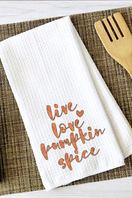 Live Love Pumpkin Tea Towel
