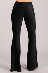 Cordy Mermaid Flares Black