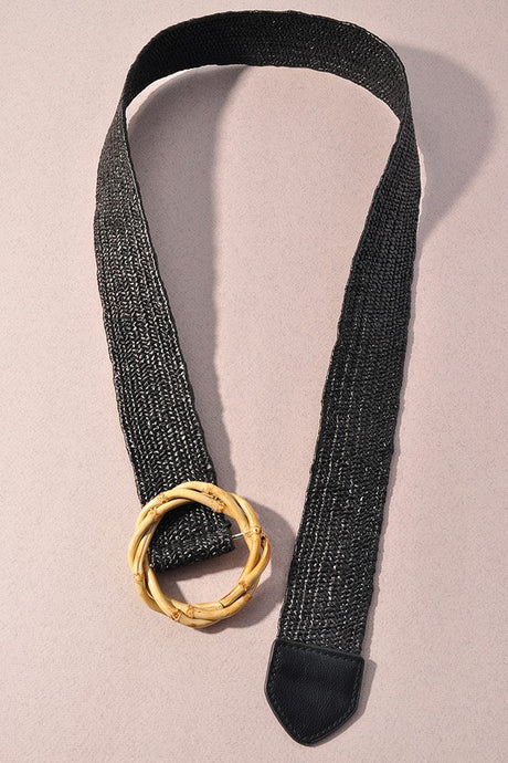 Bamboo Belt Black OS