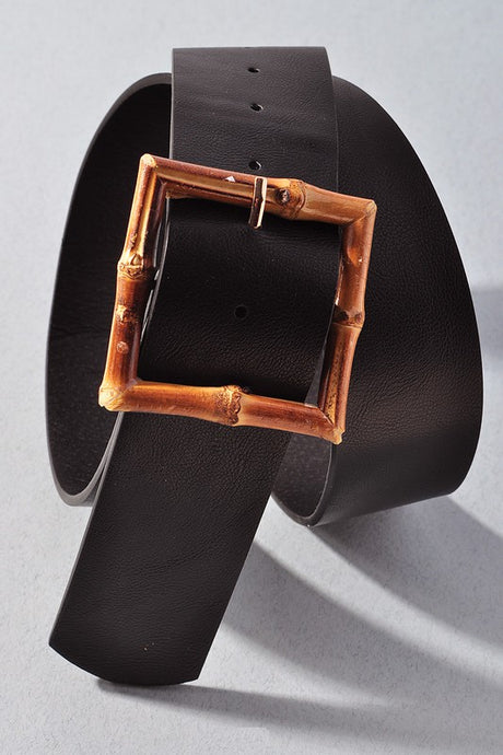 Square Bamboo Belt Black OS