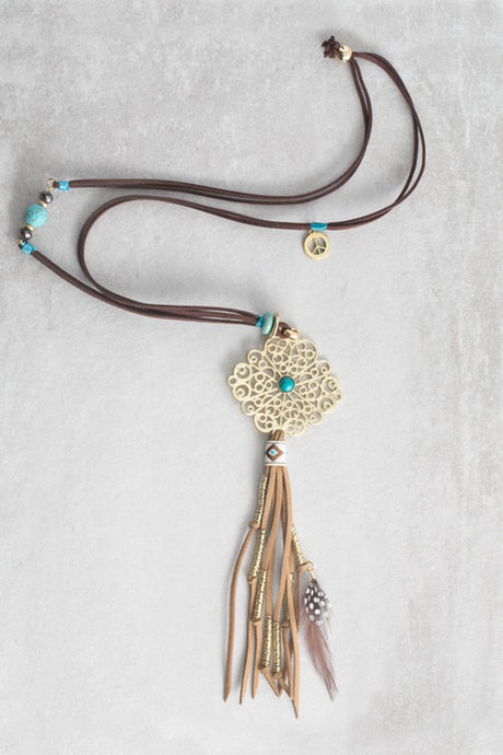 Makai Tribal Tassel Necklace