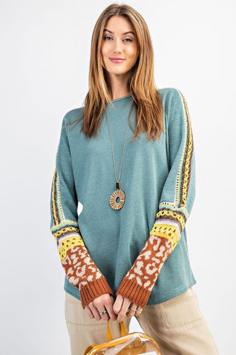 Speechless Sweater Teal