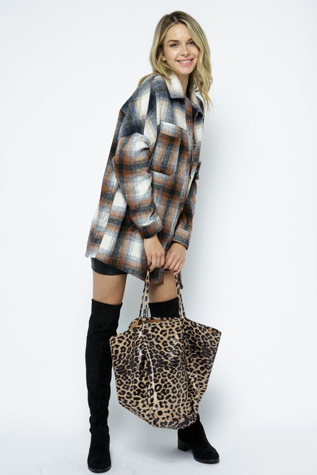 Leopard Tote Light Tan