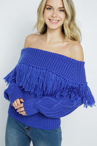 Off The Fringe Top Blue