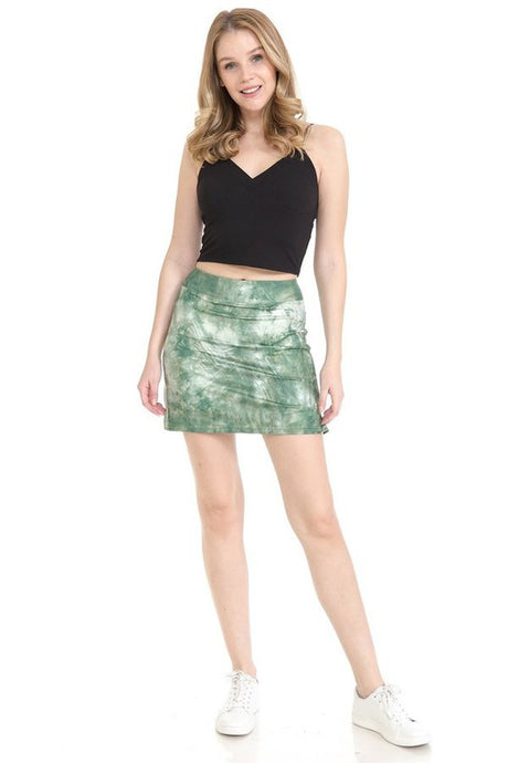 Marbled Green Glass Skort