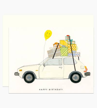 Happy Birthday Hatchback Card