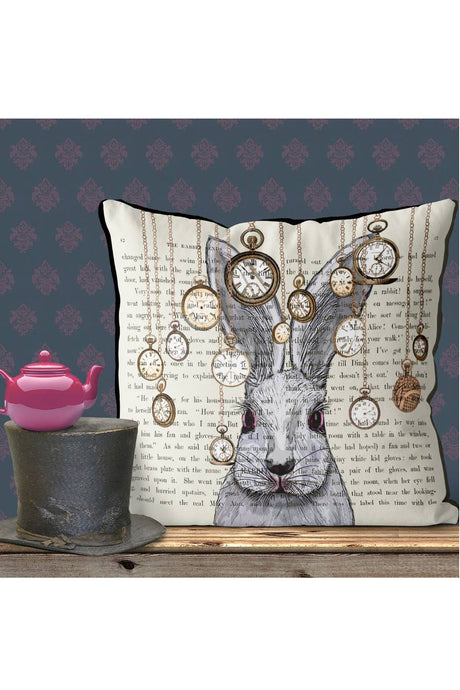 Wonderland Bunny Pillow