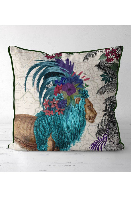 Tropical Lion Pillow
