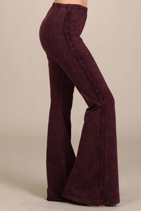 Mermaid flares W/ LACE Burgundy