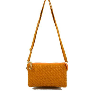 Basket Weave Double Zip Butternut
