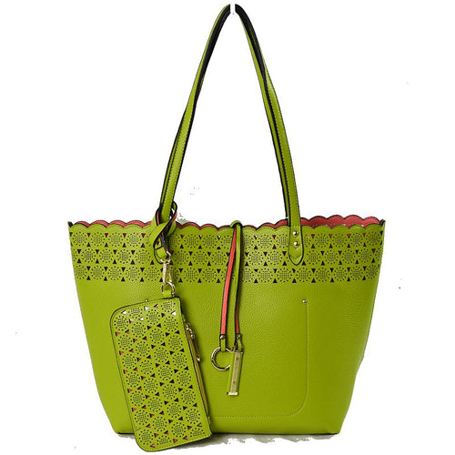 Carlotta Tote Reversible GN/PH